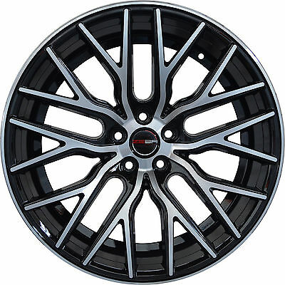 4 GWG Wheels 18 inch Black FLARE Rims fits INFINITI Q60 COUPE JOURNEY 2014-2018
