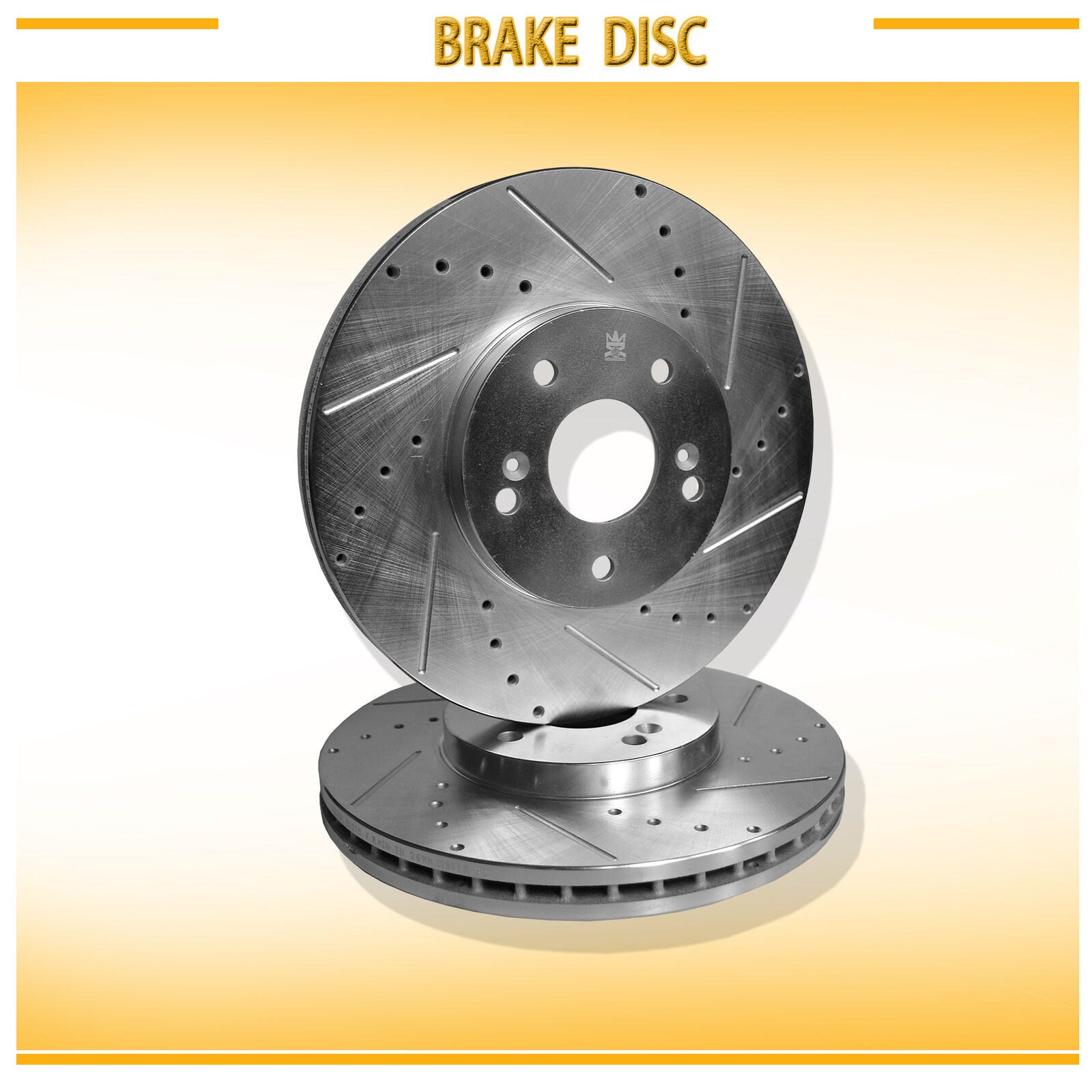 2Pcs Front Left+Right Drilled Slotted Vented Disc Brake