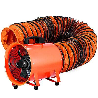 12 Portable Ventilator Blower Workshop Extractor Fan W 500mm Duct Hose