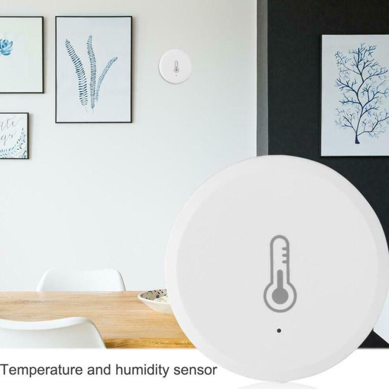 Tuya Temperature and Humidity Sensor Alarm System Devices for Amazon Alexa White