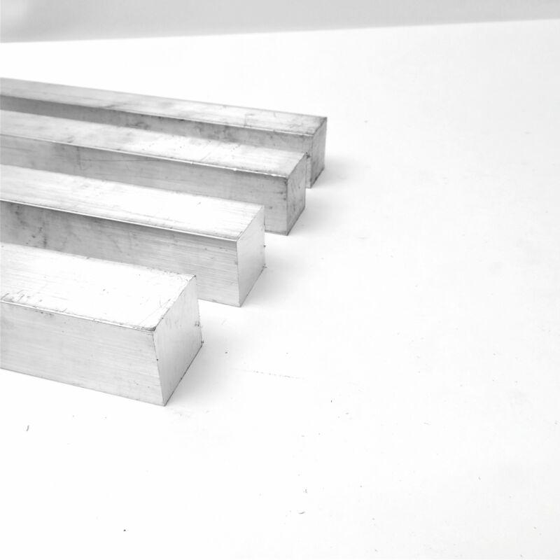 """1.5"""" x 1.5"""" Aluminum  6061 SQUARE Solid  FLAT BAR 17.5"""" Long  Pieces 4 sku K533"""