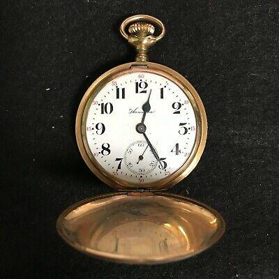 Hamilton Gold Filled Keystone Case Lever Set Adjusted Hunter Pocket Watch 16s