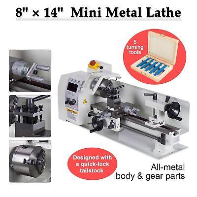 8 X 14 Mini Metal Lathe Machine Variable Speed Dc Motor Driven