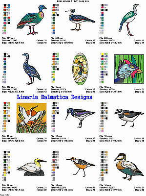 "BEAUTIFUL BIRDS V.7 (5""X7"") Multi-Format Machine Embroidery Designs on CD-Rom"