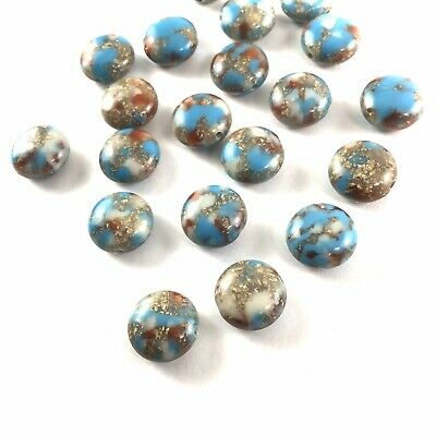 Wholesale Craft Supplies (144 Vintage BEADS Turquoise Blue Thermoset Plastic WHOLESALE LOT Craft)