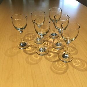 Port glasses, 6pc set Hope Valley Tea Tree Gully Area Preview