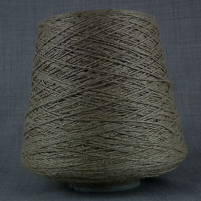 4 PLY PURE LINEN YARN 750g CONE UNDYED ECRU NATURAL UNPOLISHED KNITTING WEAVING