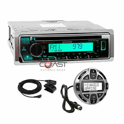 Kenwood CD BT USB Sirius Alexa Marine Boat Radio Receiver LCD Remote KMR-D378BT