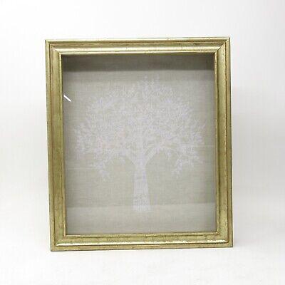 RH Restoration Hardware Baby Antiqued Gold Gilt Wood Shadow Box Family Tree