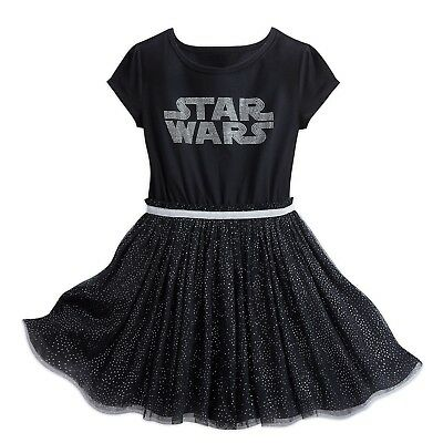 Disney Store Parks Star Wars Logo Girl's Black Tutu Dress Up Kids Costume Force - Star Wars Kids Dress Up