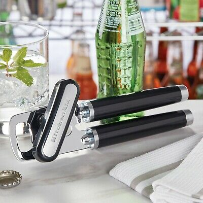 KitchenAid Stainless Steel Multifunction Can Opener Black