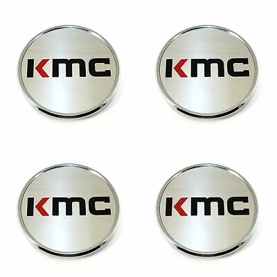 4x KMC Wheels Chrome Silver 3