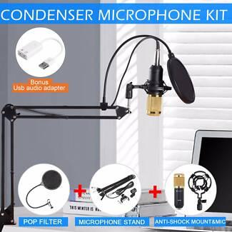 Voilamart USB Condenser Microphone Desktop Studio Tripod Stand