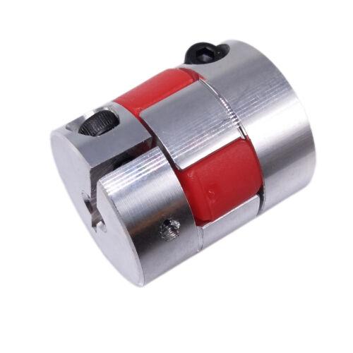 """US Stock 6.35 1/4""""x6mm CNC Flexible Plum Coupling Shaft Coupler Connect D25 L30"""