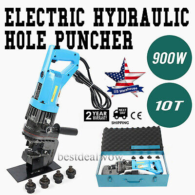 900w Electric Hydraulic Hole Punch Mhp-20 With Die Set Electro Metric Steel 110v