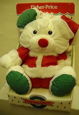 #1596 NRFB Vintage Fisher Price Christmas Puffalumps Mouse