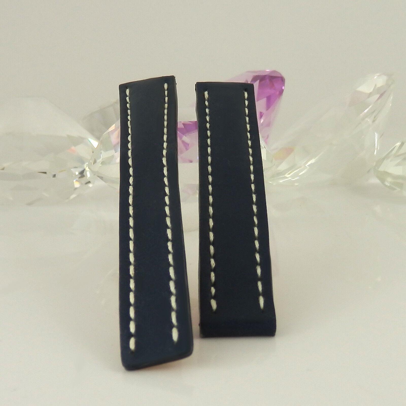 Breitling Damen Lederband dunkelblau für Faltschließe 15 auf 14 mm Stegbreite