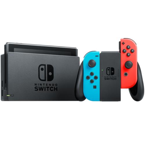 Nintendo Switch Refurbished 32GB Console Neon Blue/Red Joy-Con Warranty Included