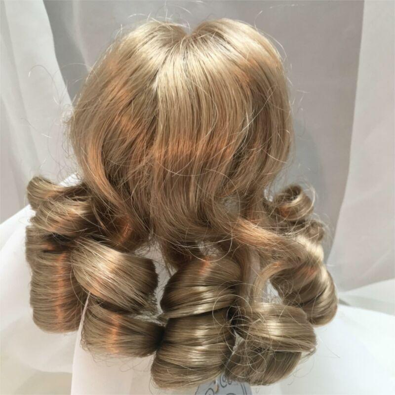 """8"""" Long Vintage Curls Blonde Doll Wig Reborn OOAK BJD Bisque Repair M120"""