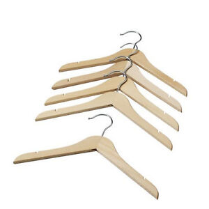 New ikea 5 pcs natural wooden baby kids clothes hangers for Wooden hangers ikea