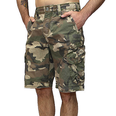 Jet Lag Shorts Take off 3 camouflage woodland Seitentaschen Cargo army armee ()