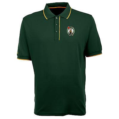 Boston Celtics Antigua Embroidered Xtra-Lite Elite Dark Pine Polo Golf -