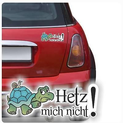 Schildkröte Auto Aufkleber (Auto Aufkleber Hetz mich nicht! Schildkröte Schnecke Sticker Digitaldruck DA501 )