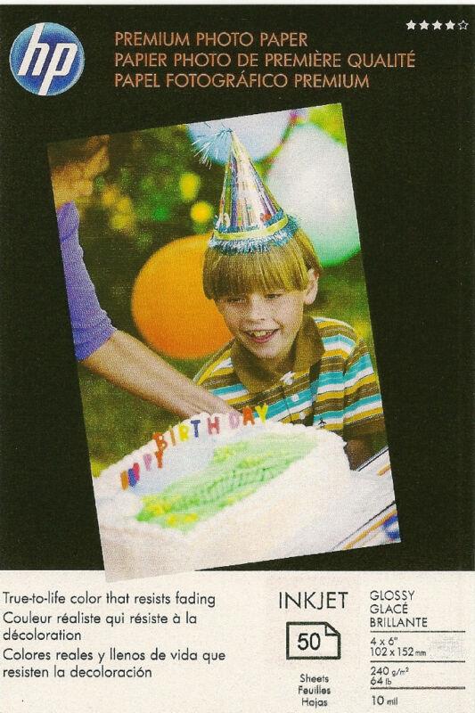 HP Premium 4 X 6 Gloss Photo Paper~100 count~Borderless~#1~Paper