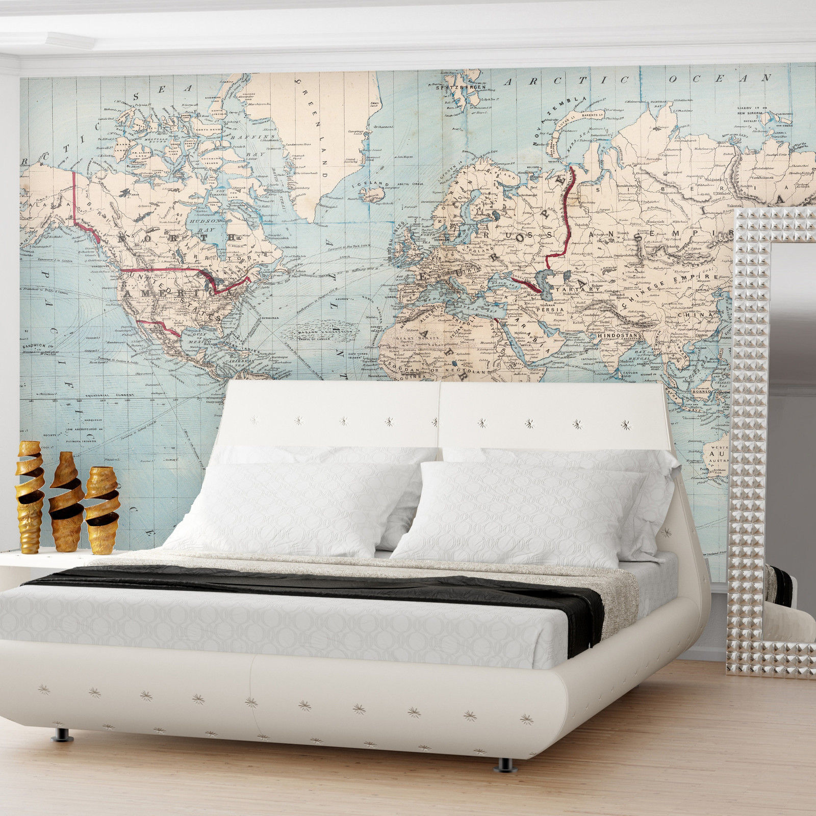 Best removable wallpaper ebay they offer many different designs including full wall maps of the world and more gumiabroncs Image collections