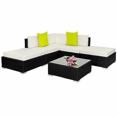 Alu Poly Rattan Sitzgruppe Lounge Rattanmöbel Gartenmöbel Couch Tisch Set BWare
