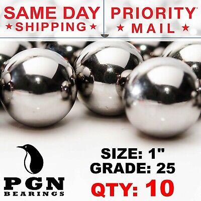 10 Qty - 1 Inch G25 Precision Chrome Steel Bearing Balls Chromium Aisi 52100