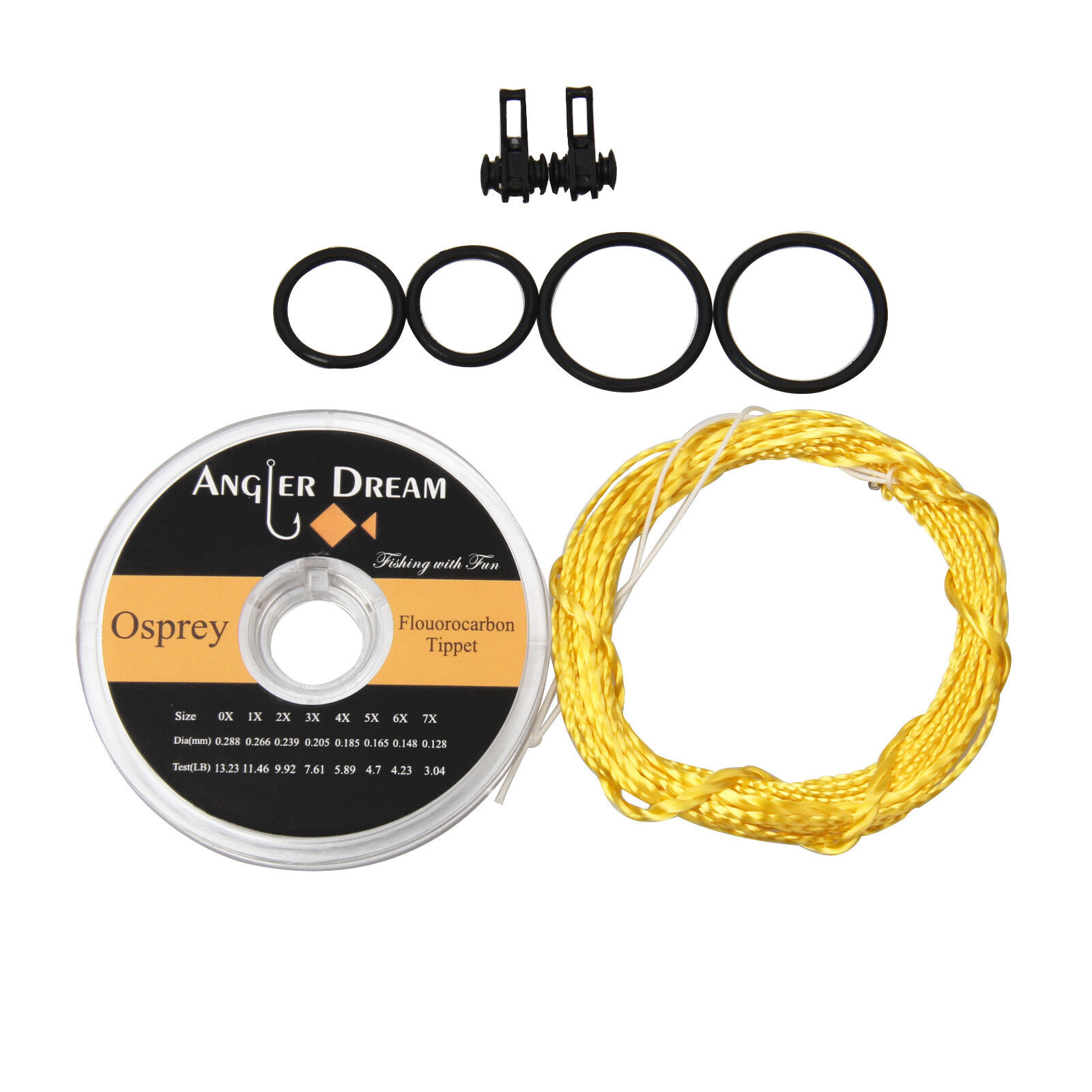Fishing Line & Leaders Furled Leader Line Fly Fishing Fluorocarbon Tippet Hook Keeper*Line VGFH Fishing Equipment & Supplies