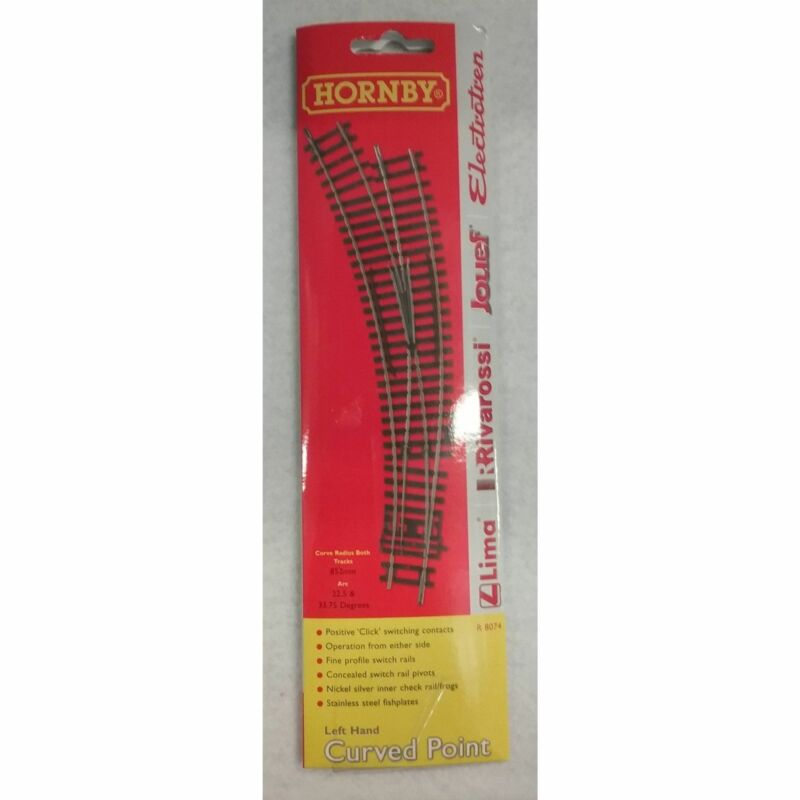 HO Scale Hornby #R8074 Left Hand Curved Point