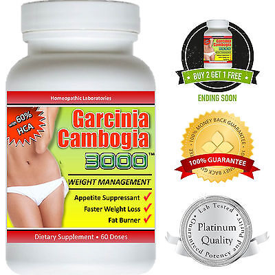 Garcinia Cambogia Extract Pure 3000 Weight Loss 100  Diet Fat Burner Hca