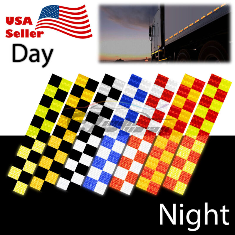 DOT-C2 Conspicuity Checker Reflective Tape 1 Foot/Stripe Safety Warning Trailer