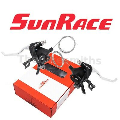 SUNRACE SLR30 7-SPEED 22.2MM CLAMP SIZE CLAMP-ON SHIFTER SET