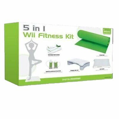 Digital Gadgets 5 in 1 Nintendo Wii Fitness Accessory Kit Exercise Yoga Mat