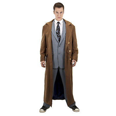 Dr Who 10th Doctor Costume (Adult Men's Deluxe Tenth Doctor David Tennant Dr. Who Cosplay Costume Jacket)