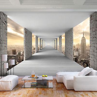 vlies fototapete new york tunnel 3d effekt tapete schlafzimmer wandbilder xxl
