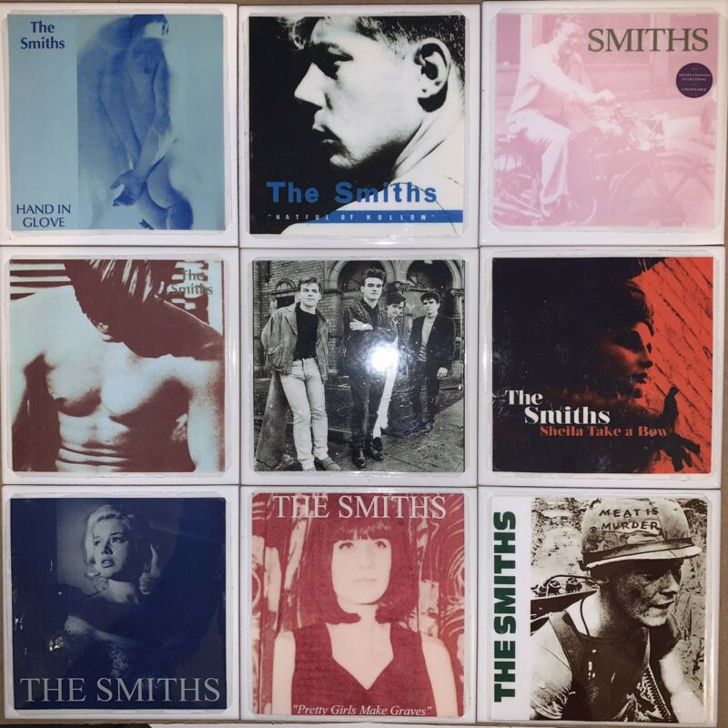DIY 9 Handmade Coasters Album Cover THE SMITHS MORRISSEY Sheila Hatful Meat Hand