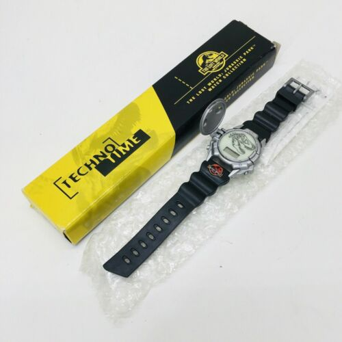 NEW‼ 1997 The Lost World Jurassic Park Movie Promo Watch Burger King TECHNO TIME