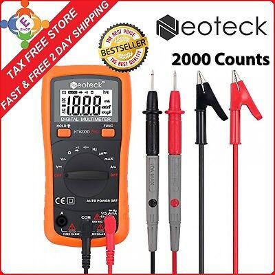 PRO Digital Multimeter Volt Meter Tester Electric OHM AC DC RMS Auto Range