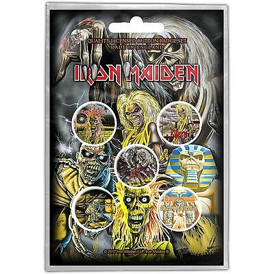 Iron Maiden pack of 5 round pin badges Early Albums (ro)