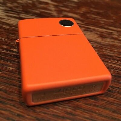 Genuine Zippo 231 orange matte windproof Lighter CASE ONLY No Insert/Box