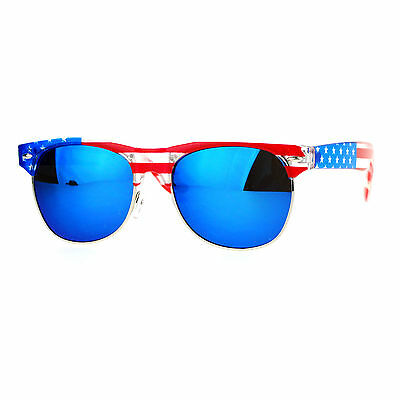 USA American Flag Print Sunglasses Unisex Patriotic Fashion Shades UV (American Flag Shades)