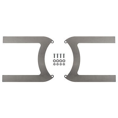 REVOTEC ELECTRIC FAN BRACKET SET PAIR 190MM MILD STEEL - RFB190MS