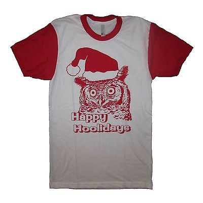 happy hoolidays funny owl ugly sweater party gift idea christmas tee holiday top](Owl Party Ideas)