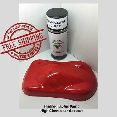 Hydrographic Film Hydro Dip Kit 6oz Aerosol Paint Clear Coat High Gloss Clear