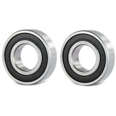 2pc Premium 5202 2rs Abec1 Double-row Angular Contact Ball Bearing 15x35x16mm
