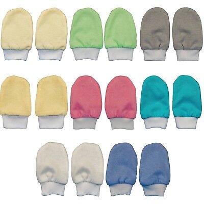 Kratzfäustlinge Fäustlinge Säuglinge 1,2,3,4er SET Handschuhe 100% Baumwolle Baby-fäustlinge